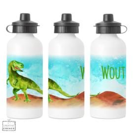 Drinkfles met naam | Dino | 400 ml of 600 ml