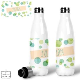 Thermosfles RVS Green Bubbles - 500 ml - Warm en koud - €24,99