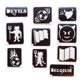 Assortiment glittertattoosjablonen EK Voetbal - Belgium