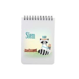 Notitieboek A6 | Stoere wasbeer