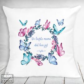 Kussen - De liefste mama - Vlinders