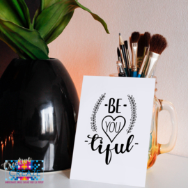 Kaartje | Be - you - tiful | Creative Creaze