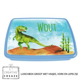 Lunchbox met naam | Dino