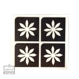 Sjabloon mini - Bloem 1 - 4 stuks