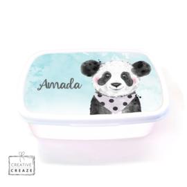 Brooddoos of broodtrommel met naam | Panda