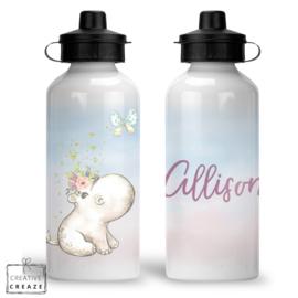 Drinkfles met naam | Nijlpaard | 400 ml of 600 ml