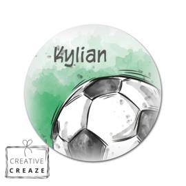 Muurcirkel - Voetbal - met naam