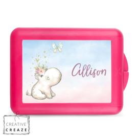 Lunchbox of brooddoos met naam | Nijlpaard | €15,95
