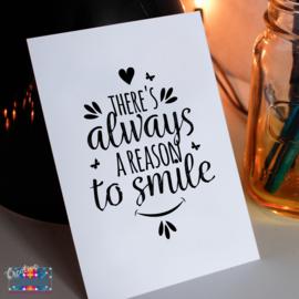 Kaartje | Reason to smile | Creative Creaze