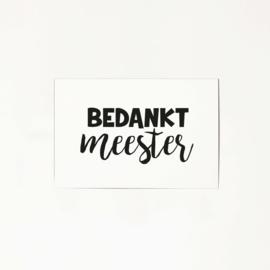 Mini kaart – Bedankt meester