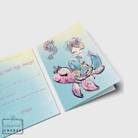 Uitnodigingen | Zeemeermin - Mermaids | 5 stuks