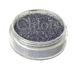 Chlois Glitter Black  Grey 5 ml - Donkerzilver