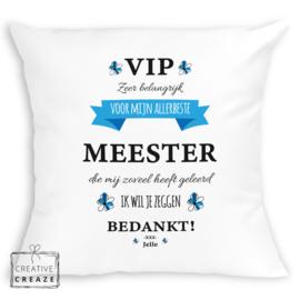 Kussen VIP meester
