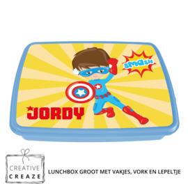Lunchbox met naam | Superheld