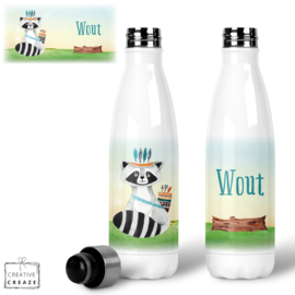 Thermosfles RVS Stoere wasbeer - 500 ml - Warm en koud - €24,99