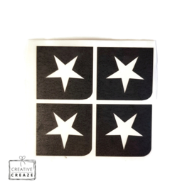 Sjabloon mini - Ster - 4 stuks