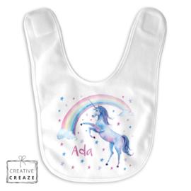 Slabbetje 'unicorn' met naam