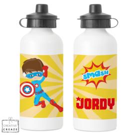 Drinkfles met naam | Superheld | 400 ml of 600 ml