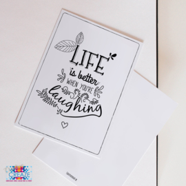 Kaartje | Life is better | Creative Creaze