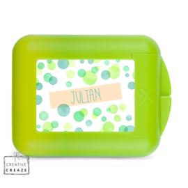Koekendoosje of snackbox met naam | Green Bubbles