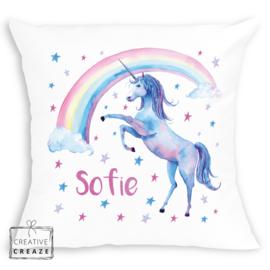Kussen unicorn met naam