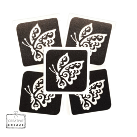 Sjabloon -  vlinder 2