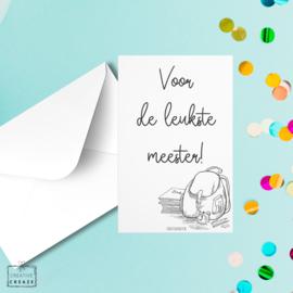 Mini-kaartje - Voor de leukste meester!