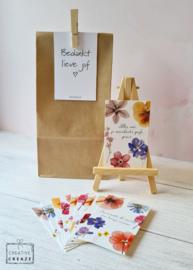 Een zakje met een glimlach - Bedankt lieve juf - met schildersezeltje