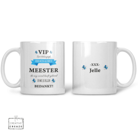 Mok  meester VIP met naam