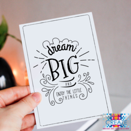 Kaartje | Dream Big | Creative Creaze