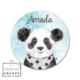 Muurcirkel - Panda - met naam
