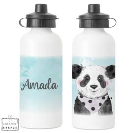 Drinkfles met naam | Panda | 400 ml of 600 ml