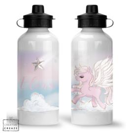 Drinkfles met naam | Vliegende eenhoorn | 400 ml of 600 ml
