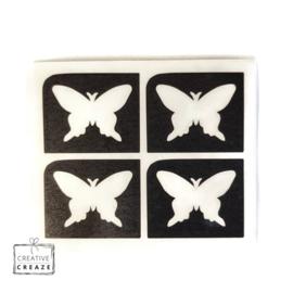 Sjabloon mini - Vlinder- 4 stuks