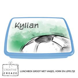 Lunchbox met naam | Voetbal