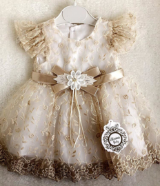 Exclusieve Baby Golden Dress