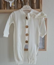 Ribbel Cotton Jumpsuit + Accessoires