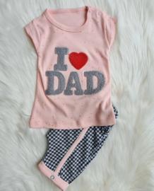 Zomersetje I Love Dad Vintage