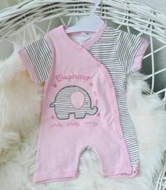 Baby Olifantje Zomer Jumpsuit + Gratis Slabbeltje