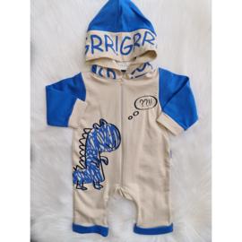 Grrrr Dino Jumpsuit + Capuchon
