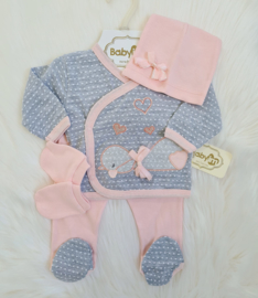 4-Delig Newborn Duck Babygirl