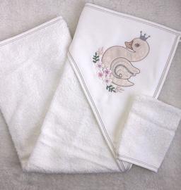 Luxe BadSet  Zwanen Koningin {Premium Quallity Cotton}