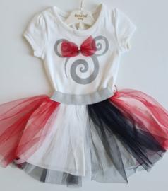 Minnie Glamourous Party Tutu {Black/Red Velvet Edition}