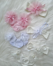 Luxe Giftset Babysokjes + Haar Accessoires