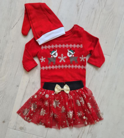 Baby Kerst TutuSet