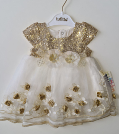 Golden Rose Glitter Balldress