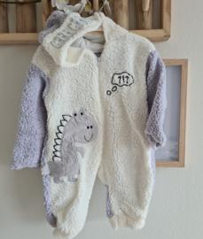 Fluffy Dino Winter Baby