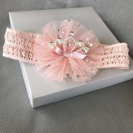 Queen Diamond Haarband Pink