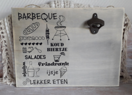 Bieropener met tekst Barbeque
