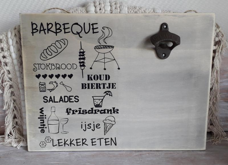 Bieropener met tekst Barbeque